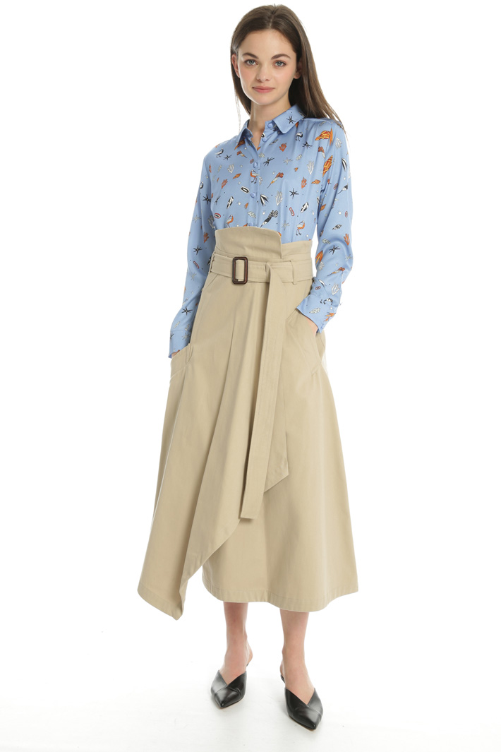 Belted wrap skirt Intrend