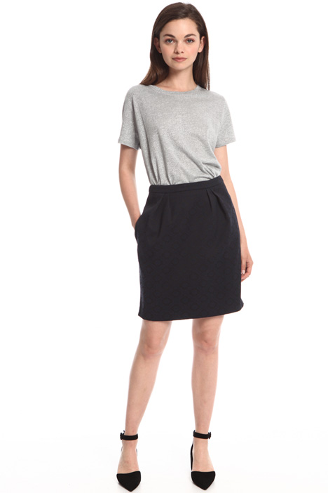 Semi-fitted jacquard skirt Intrend