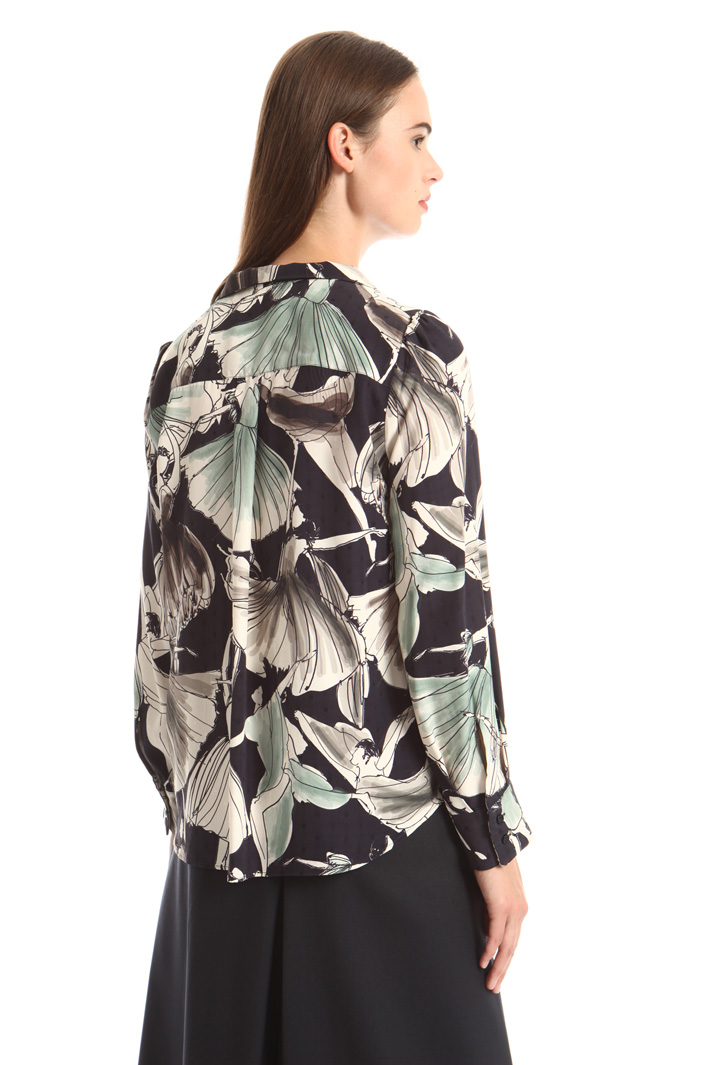 Printed fil coupé shirt Intrend