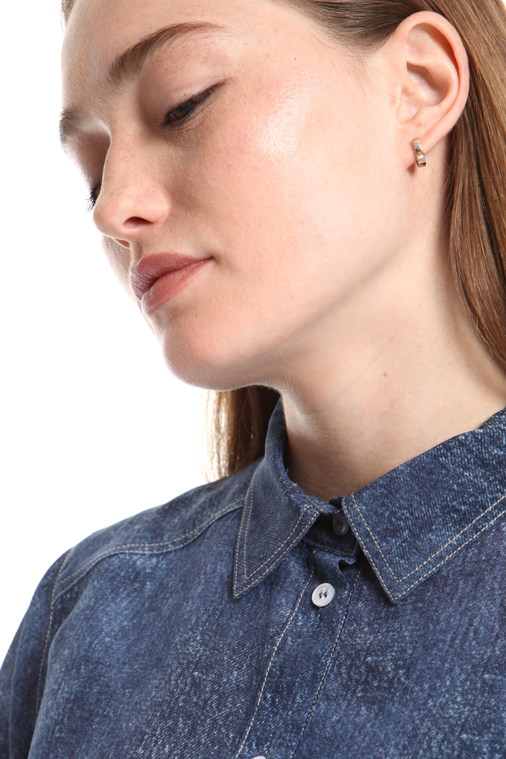Denim-effect shirt Intrend