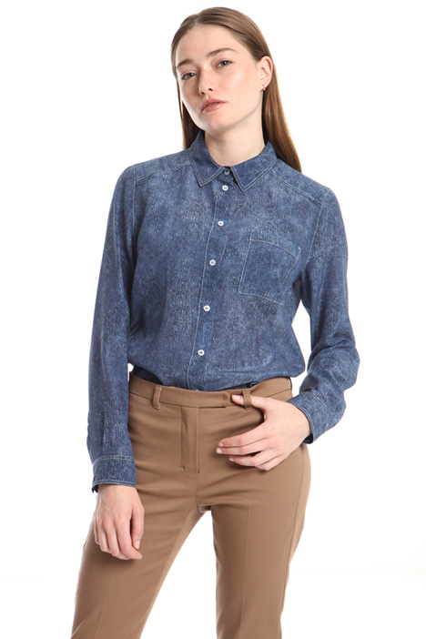 Denim-effect shirt Intrend