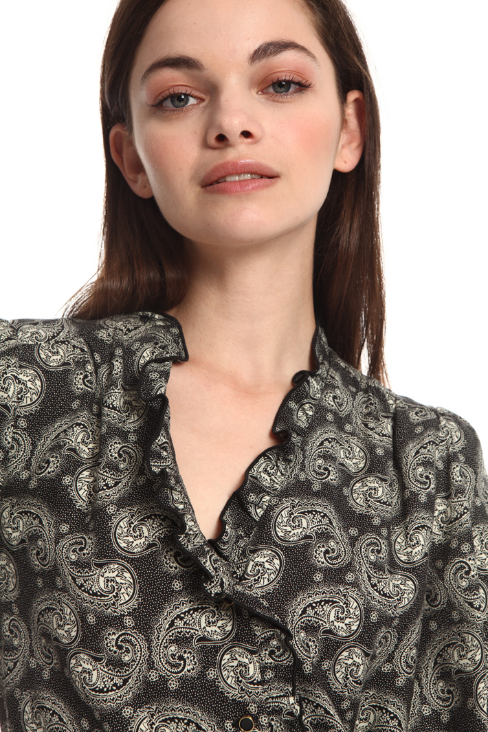 Printed boxy blouse Intrend