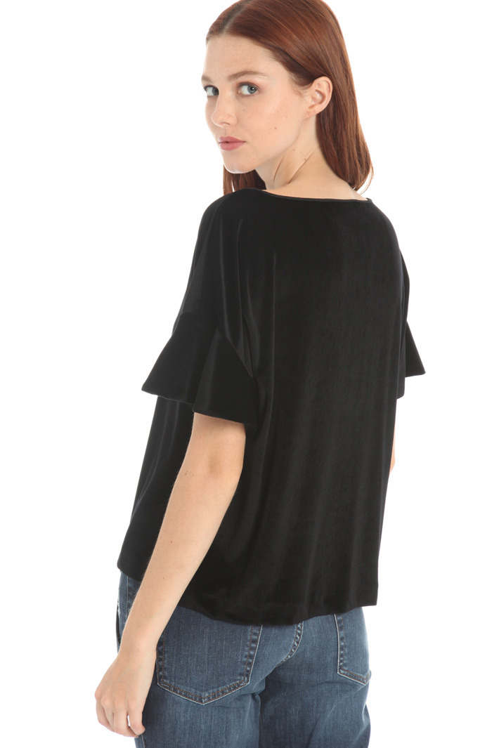 Boxy fit top in chenille Intrend