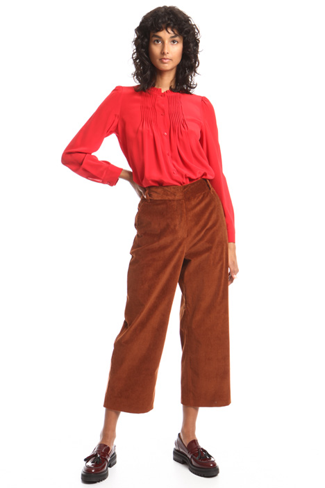 Cropped velvet trousers Intrend