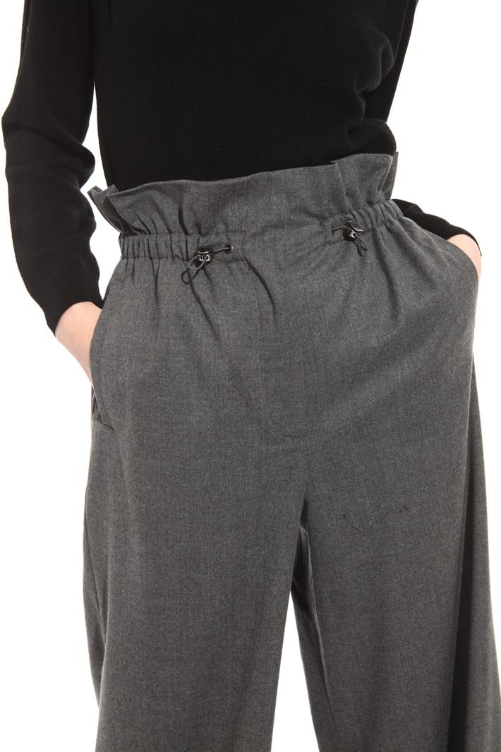 Wide leg wool trousers Intrend