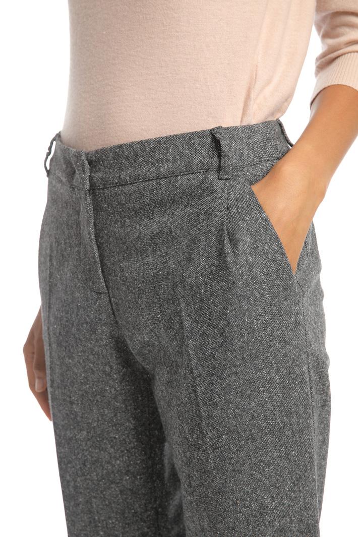 Wool tweed trousers Intrend