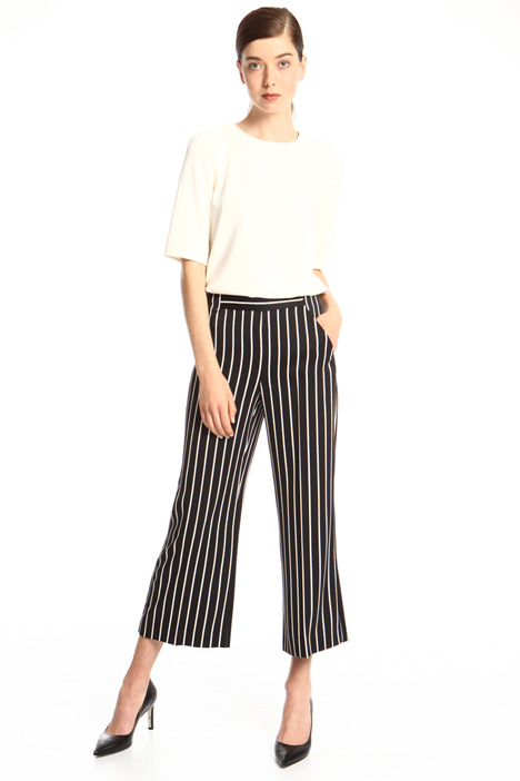Cropped satin trousers Intrend