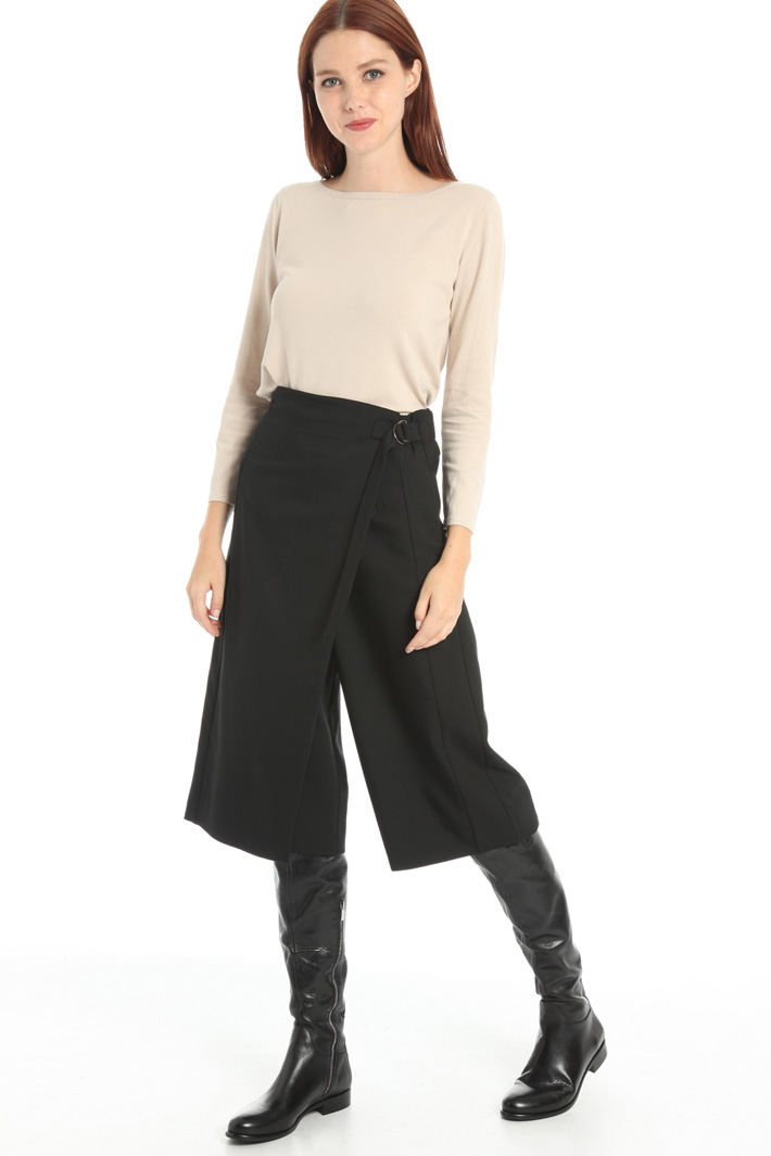 Wool viscose carrot trousers Intrend