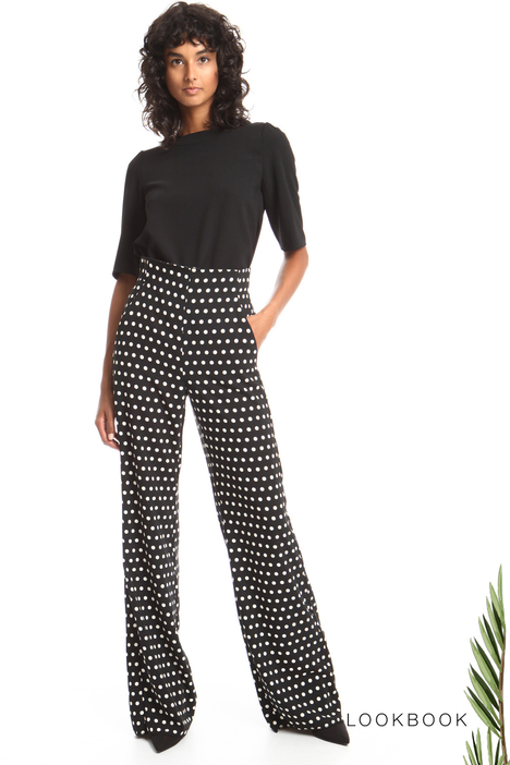 Polka-dot palazzo trousers Intrend