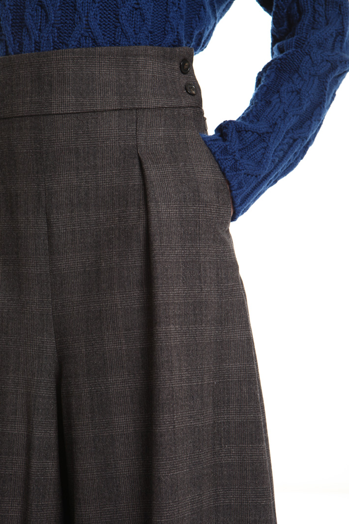 Pure wool divided-skirt Intrend