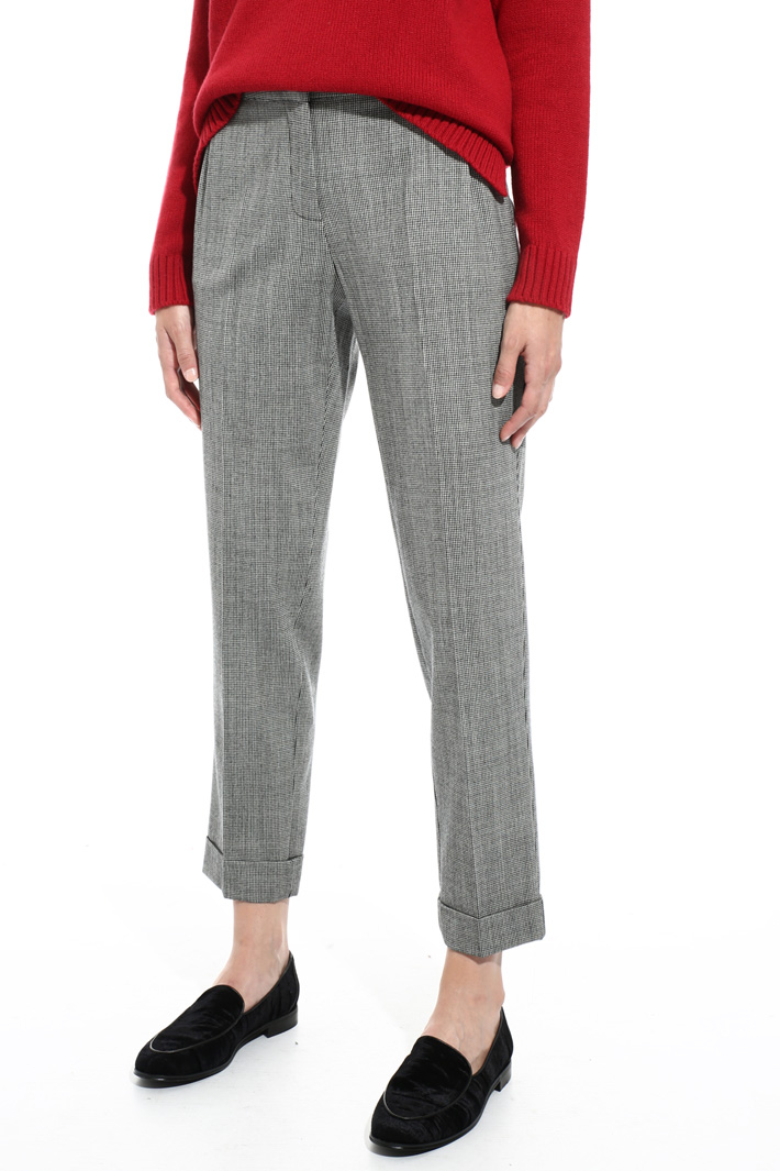 Yarn-dyed flannel trousers Intrend
