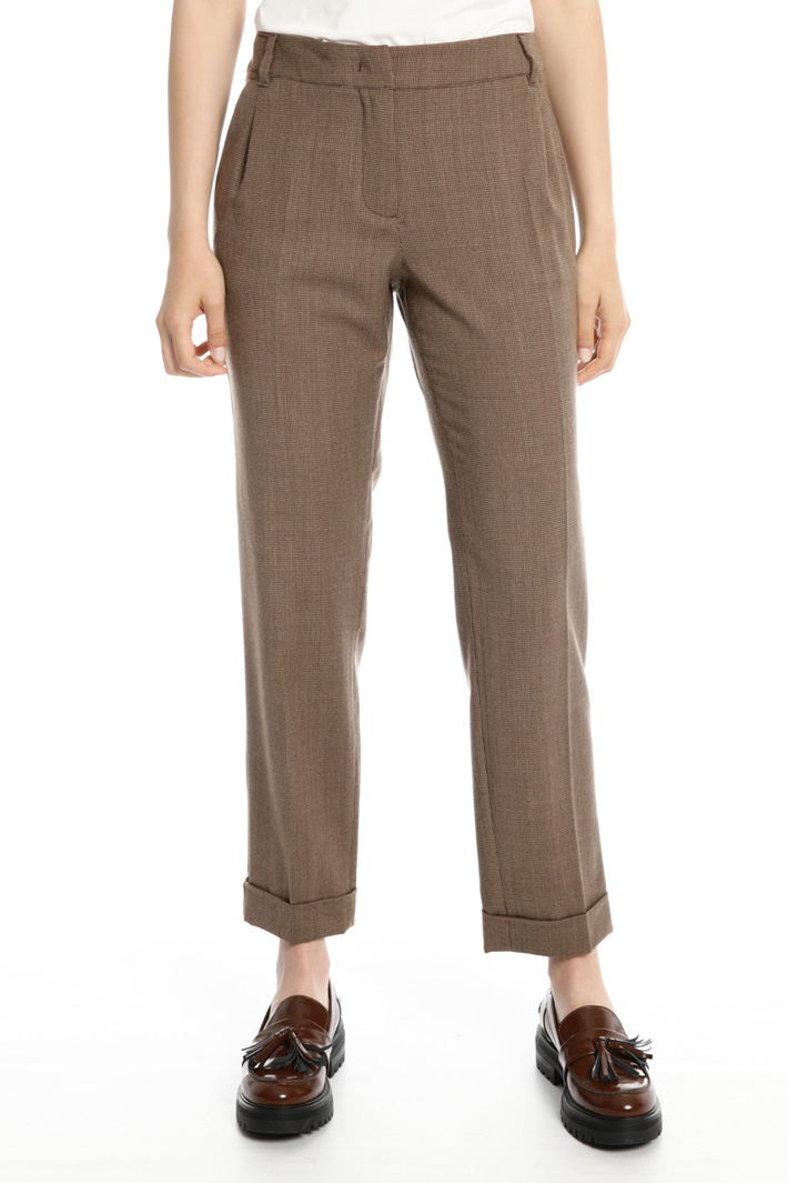 Pure wool regular trousers Intrend