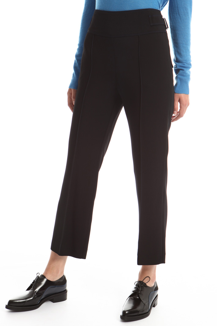 High waist cropped trousers Intrend