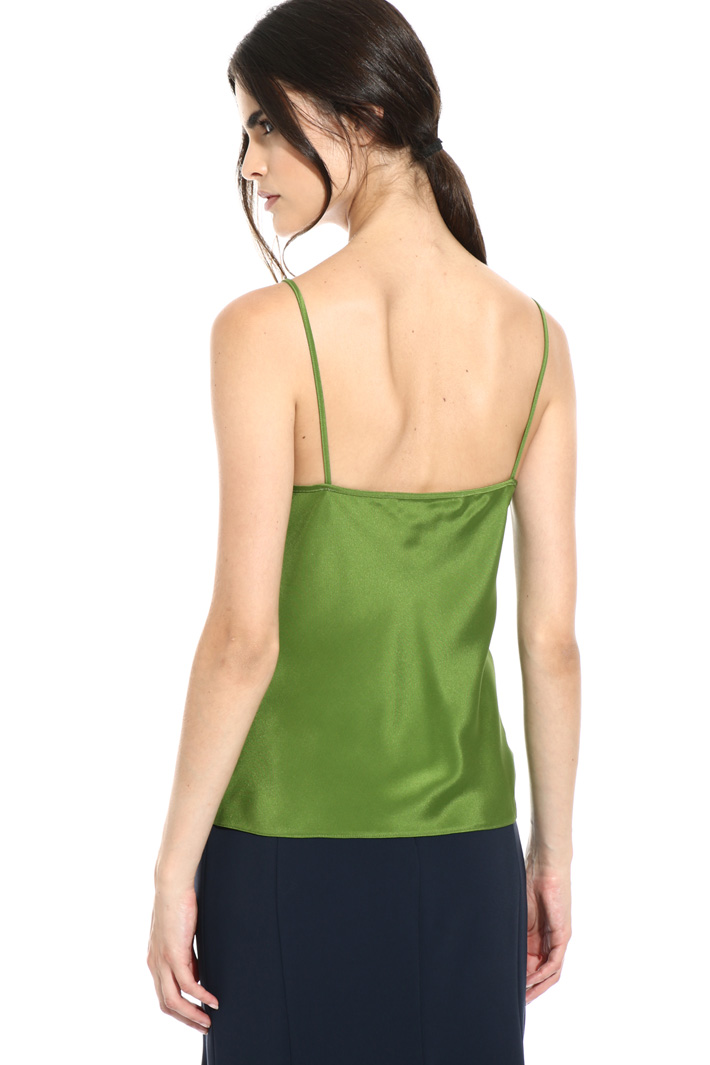 Pure silk basic top Intrend