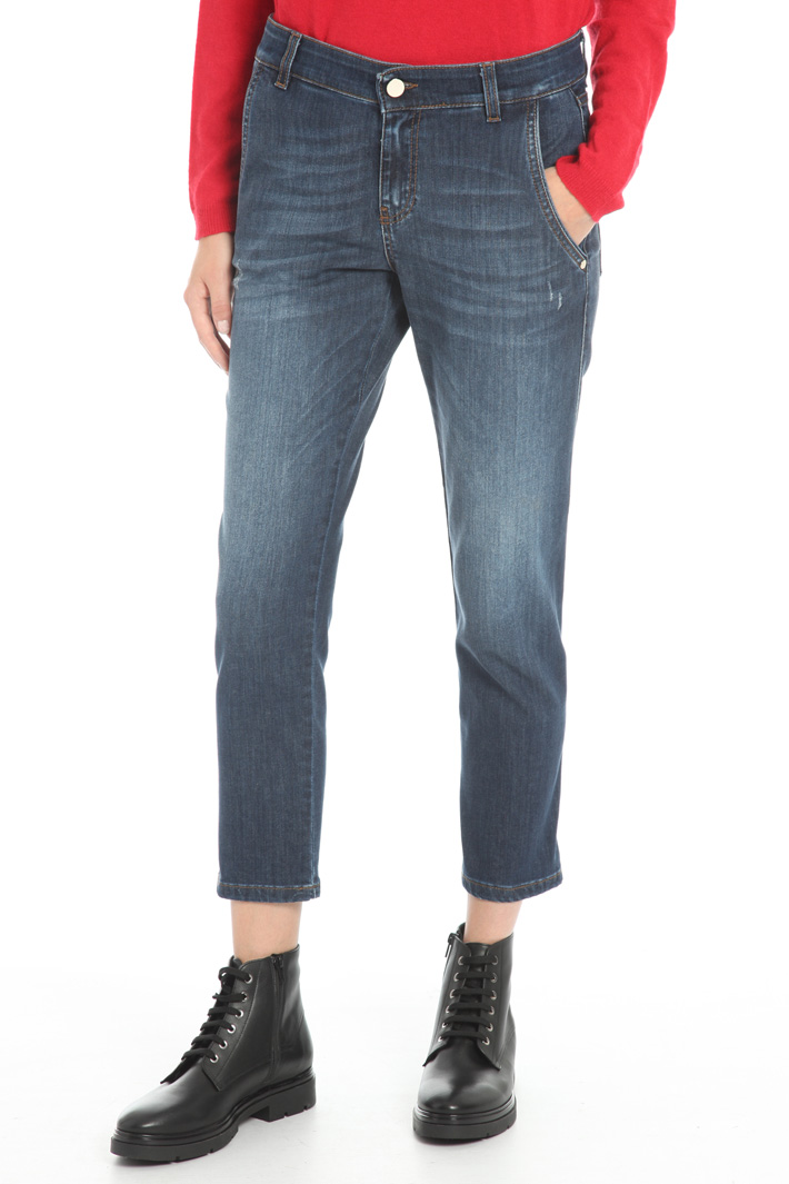 Fitted denim trousers Intrend