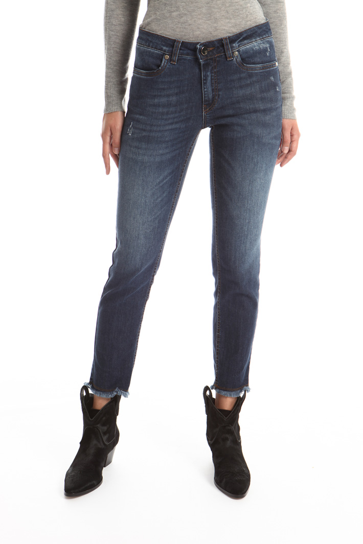 Fringed jeans Intrend