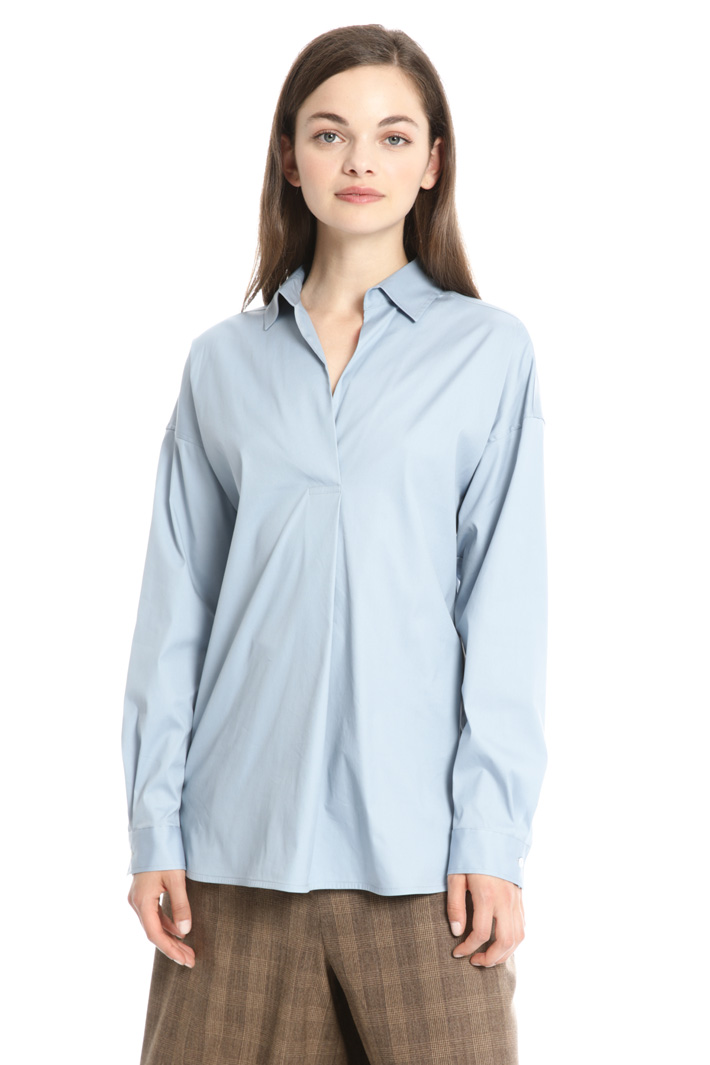 Cotton popli shirt Intrend