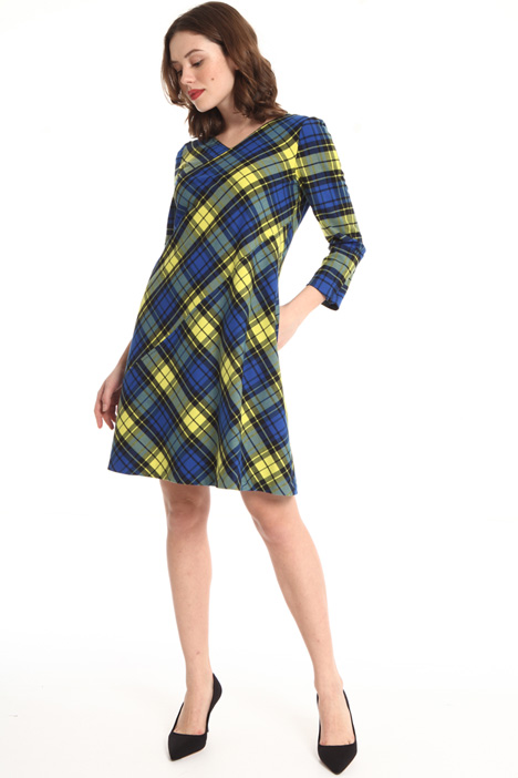 Short checked dress Intrend
