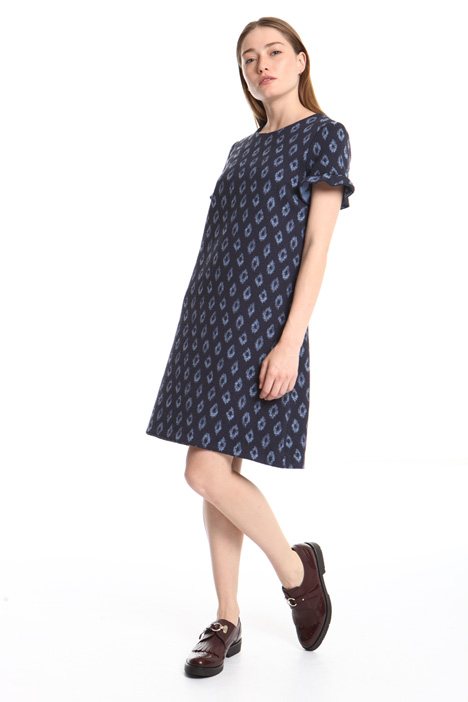 Cotton jacquard dress Intrend