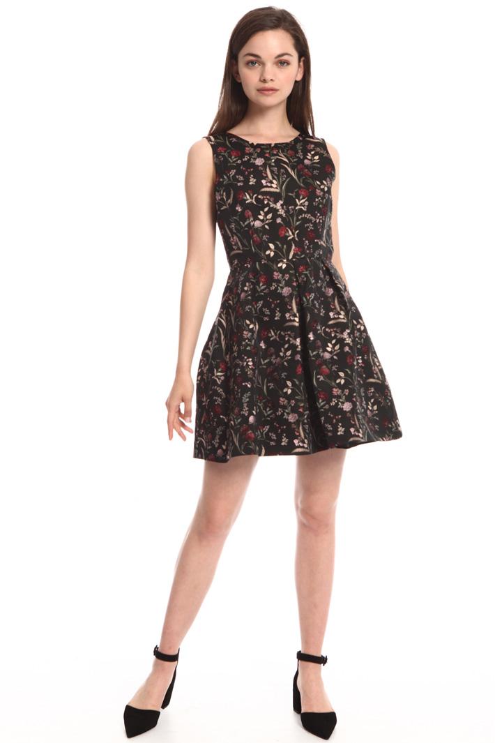 Floral jacquard dress Intrend