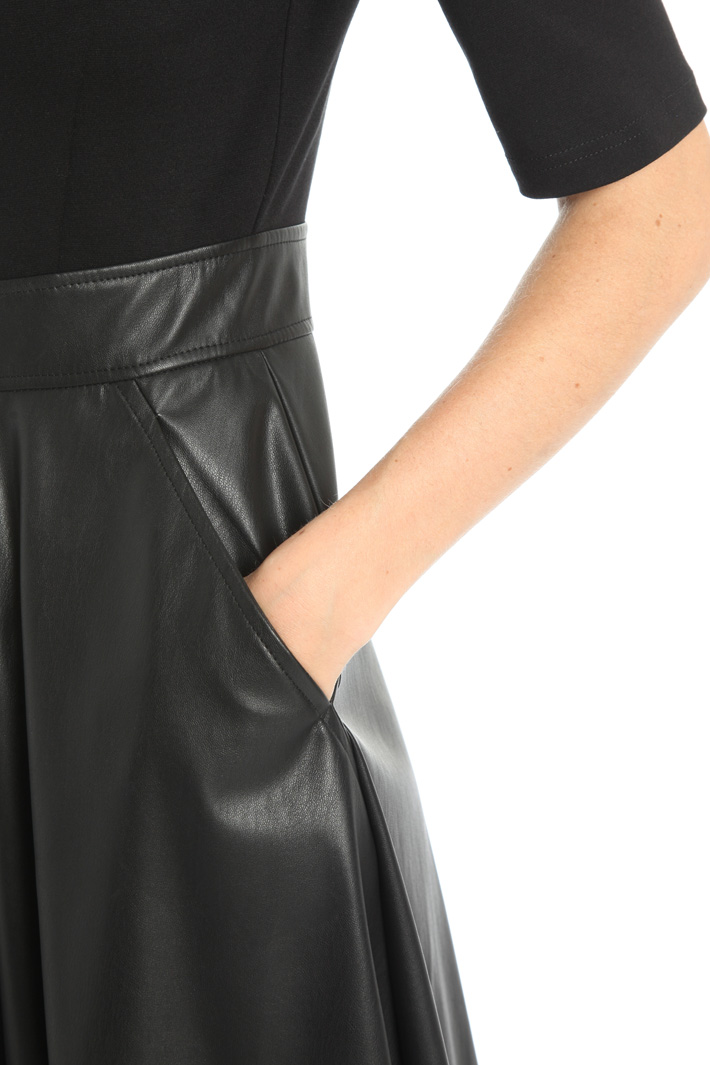 Faux-leather dress Intrend