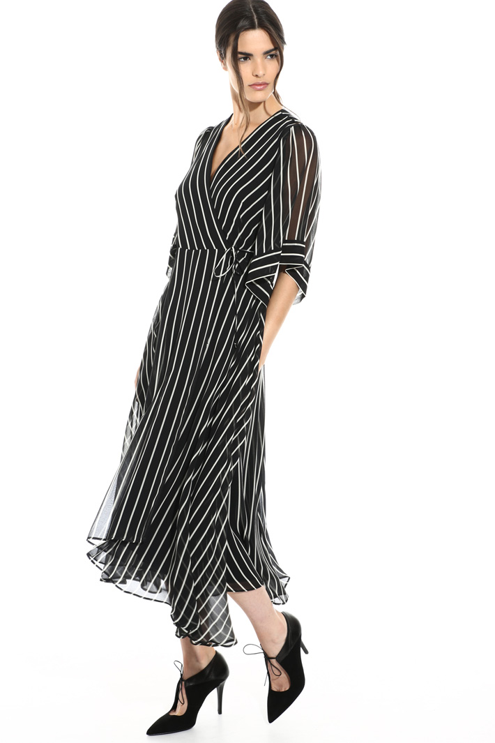 Striped wrap dress Intrend