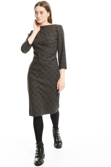Flannel sheath dress Intrend