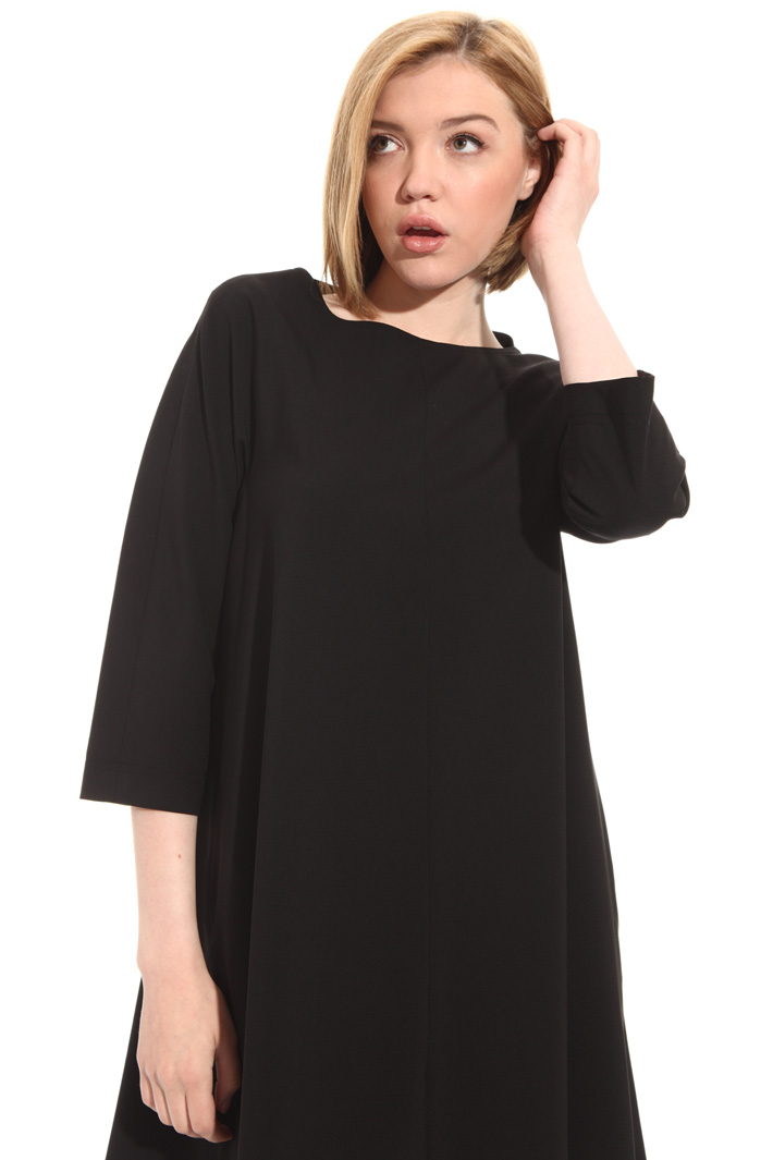 Short wool crepe dress Intrend