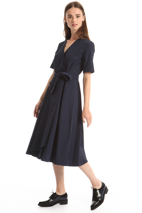 Double-breasted cotton dress Intrend