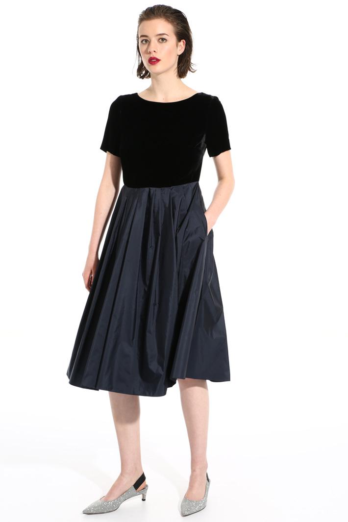 Velvet and silk dress Intrend