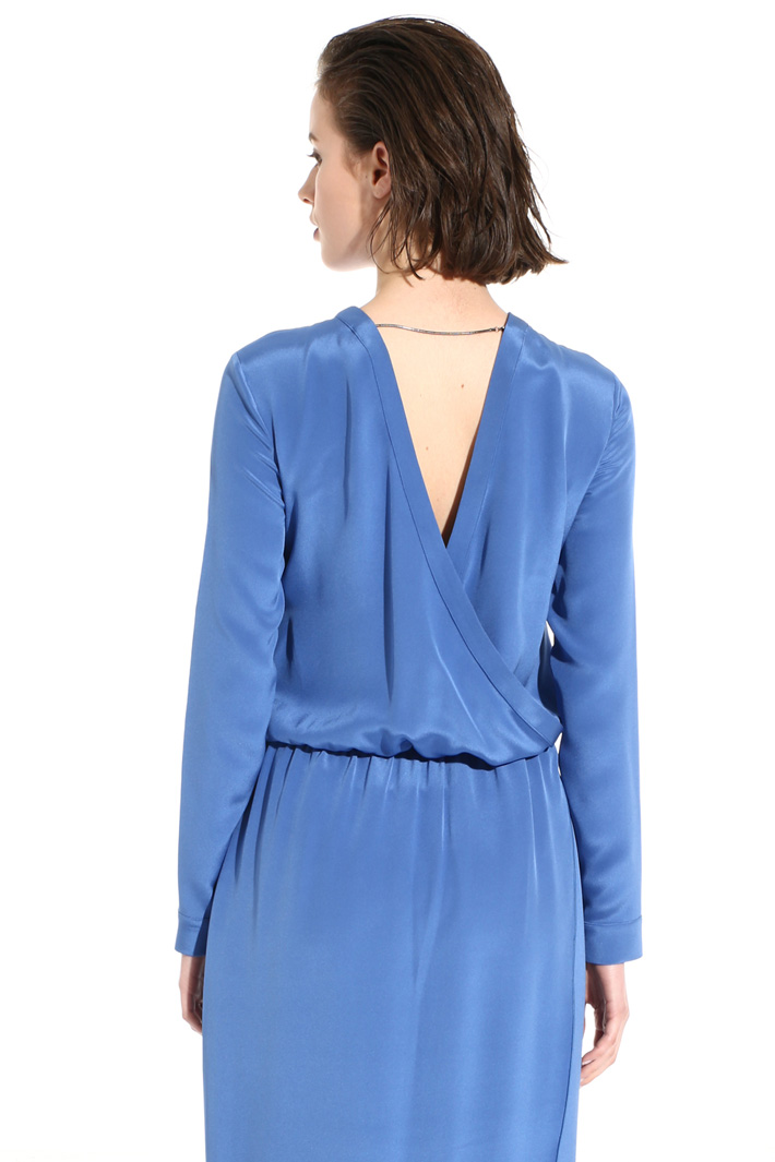 Long dress in pure silk Intrend