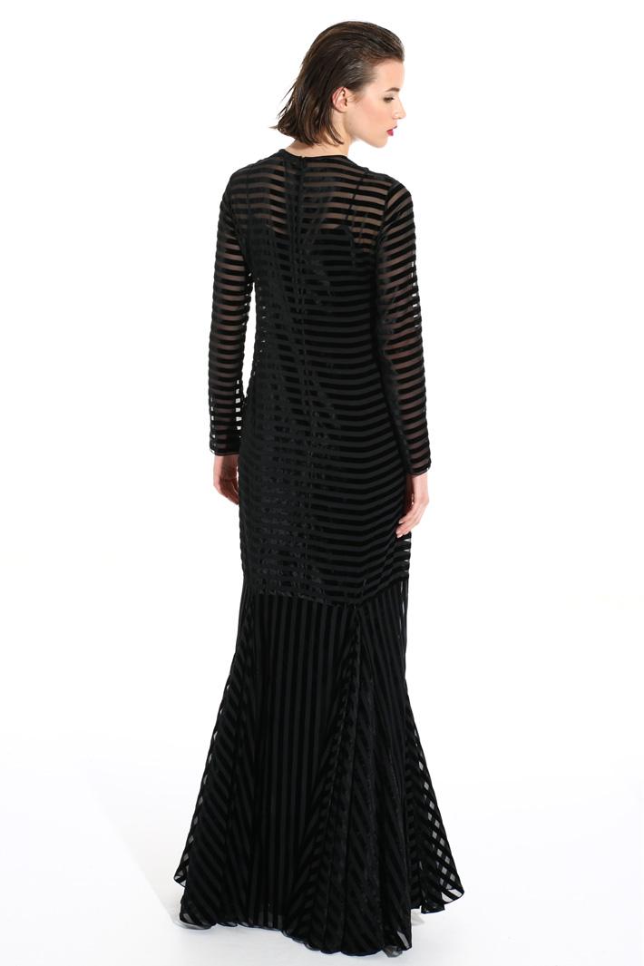Long velvet dress Intrend