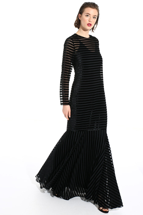 Long velvet dress Intrend