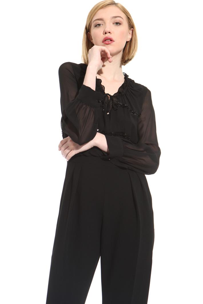 Silk and triacetate jumpsuit Intrend