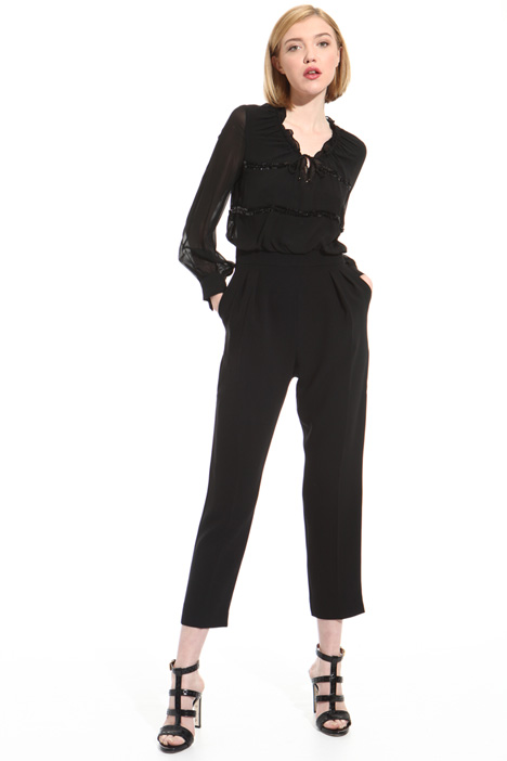 Silk and triacetate jumpsuit Intrend