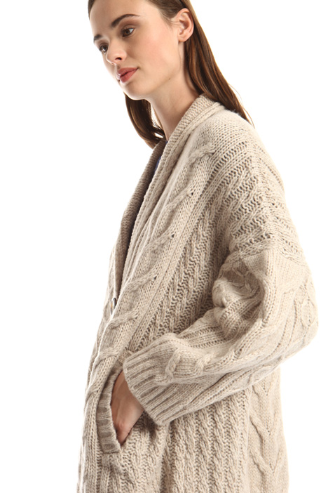 Braided knit cardigan Intrend