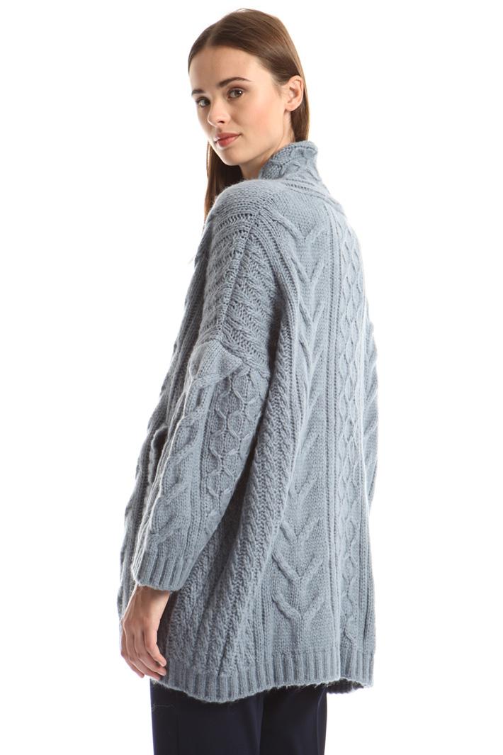 Braided knit cardigan Intrend