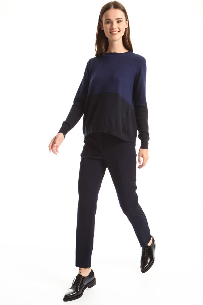 Colour block sweater Intrend