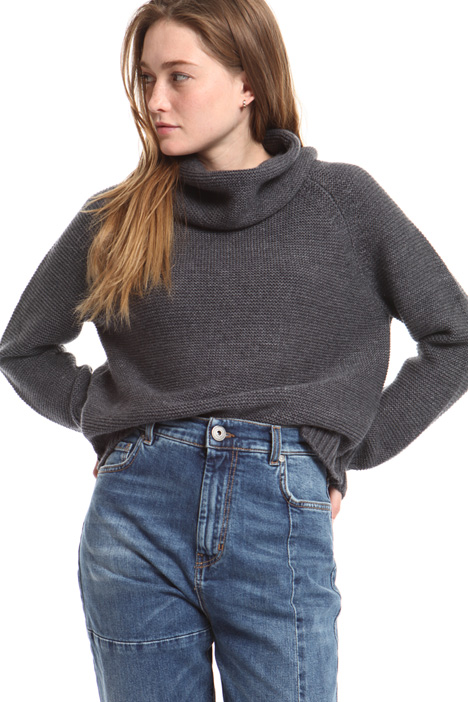 Wool blend yarn sweater Intrend