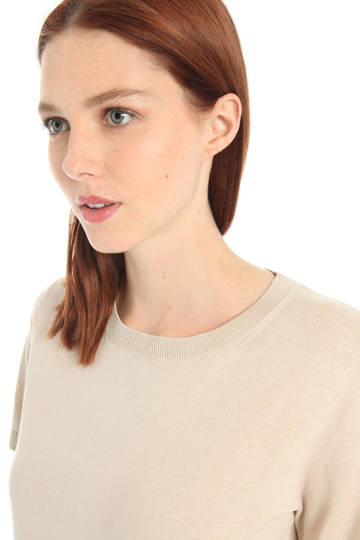 Silk and cotton T-shirt Intrend