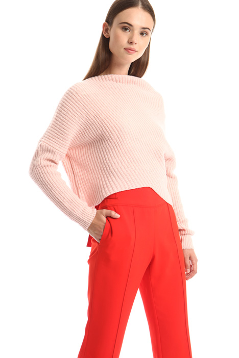 Asymmetrical wool sweater Intrend