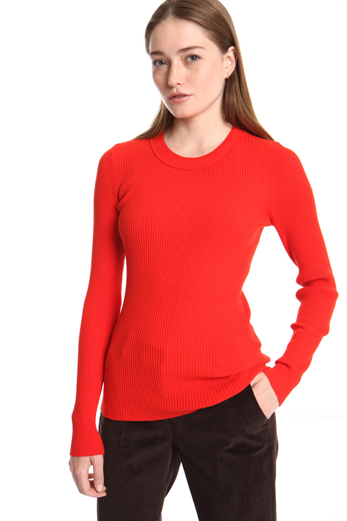Crew neck ribbed sweater Intrend