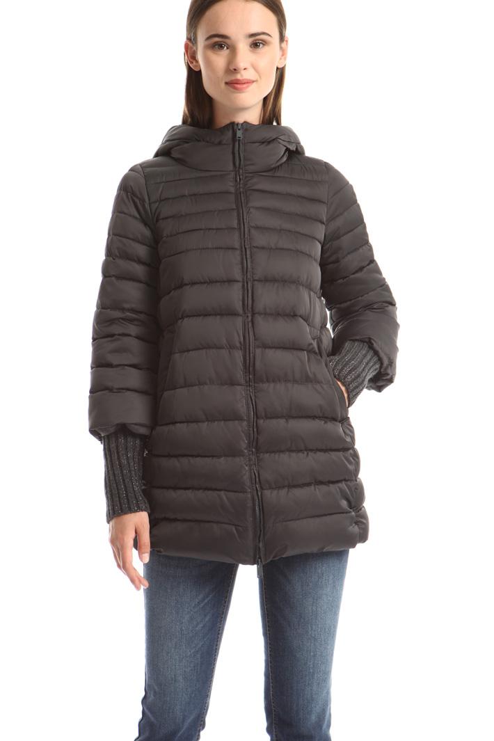 Puffer jacket with lurex cuffs Intrend