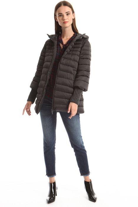 Puffer jacket with lurex cuffs Intrend