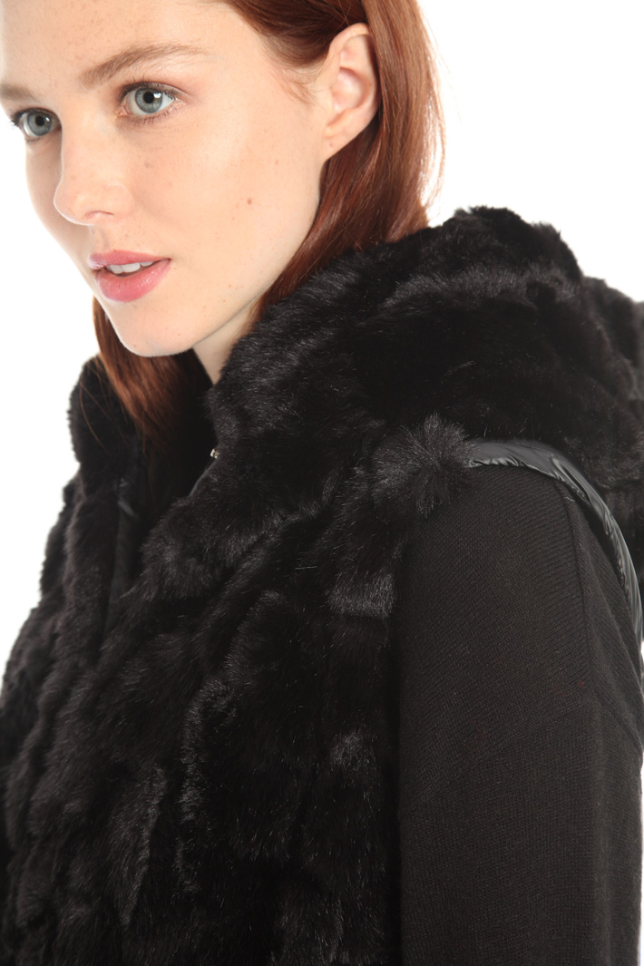 Fur puffer jacket Intrend