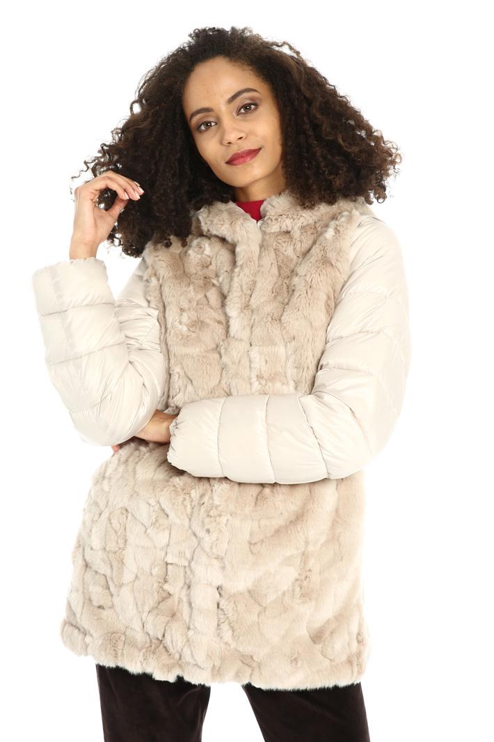 Fur puffer jacket Intrend