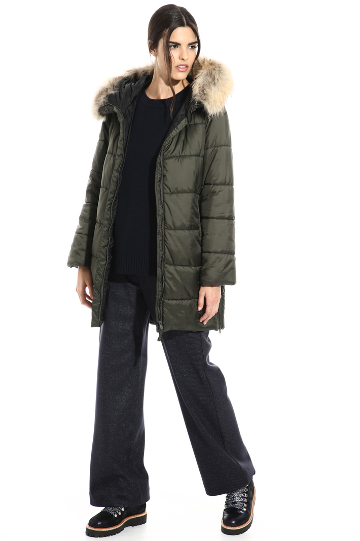 Fur trimmed puffer coat Intrend