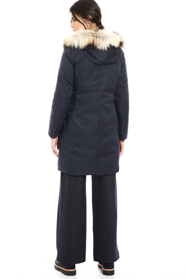 Smooth and quilted puffer coat Intrend