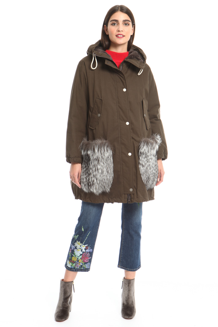 Lapin fur pocket parka Intrend