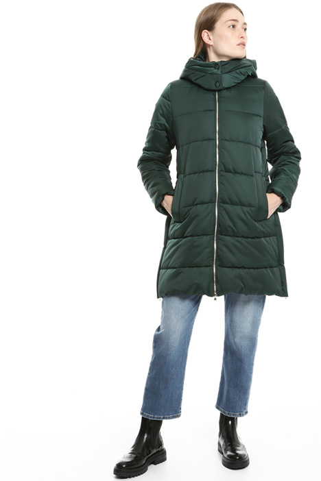Technical satin puffer coat Intrend